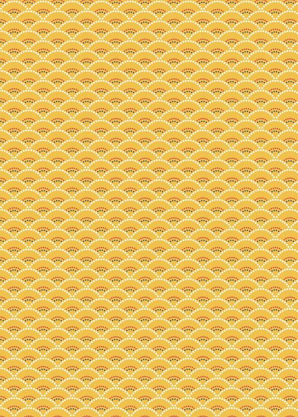 tissu coton enduit koi jaune