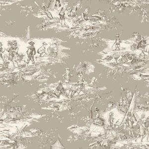tissu coton ameublement histoire d'eau lin