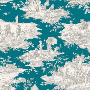 tissu coton ameublement histoire d'eau canard