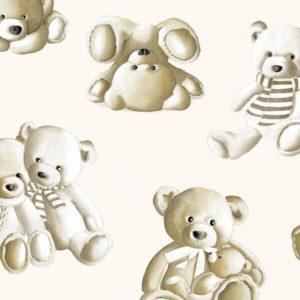 tissu coton ameublement teddy ecru