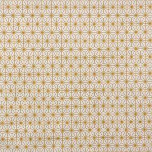 tissu coton enduit soleil d'orient moutarde