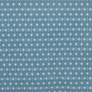 tissu coton enduit soleil d'orient turquoise