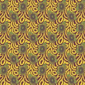 tissu coton enduit morning glory jaune