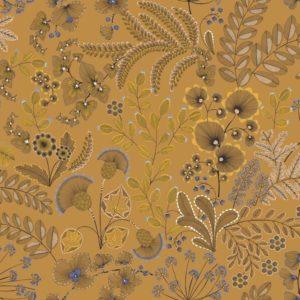 tissu coton enduit phoenix cumin