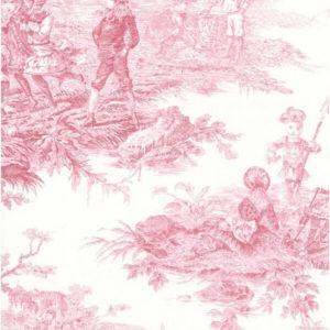 tissu coton ameublement histoire d'eau bordeaux