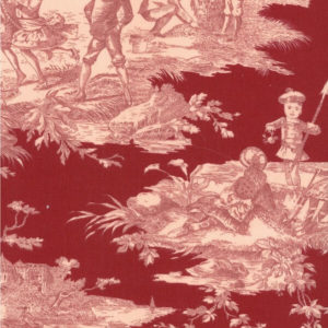 tissu coton ameublement histoire d'eau fraise