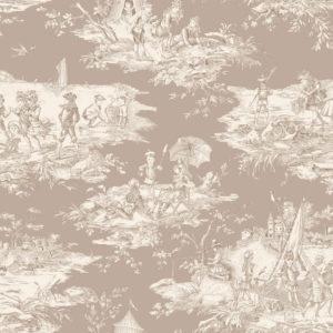 tissu coton ameublement histoire d'eau beige
