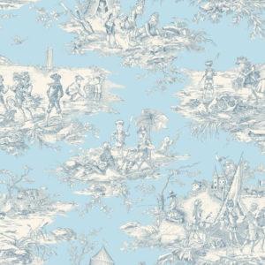tissu coton ameublement histoire d'eau ciel