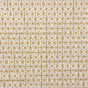 tissu coton ameublement soleil d'orient moutarde