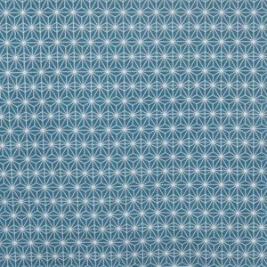 tissu coton ameublement soleil d'orient turquoise