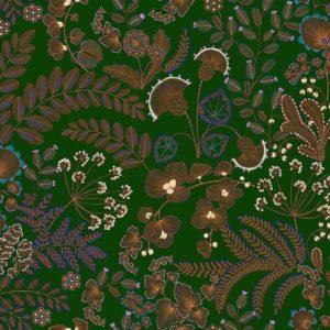 tissu coton ameublement phoenix vert sapin