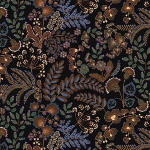 tissu coton ameublement phoenix noir