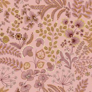 tissu coton ameublement phoenix rose