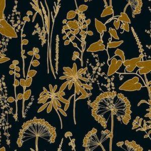 tissu velours imprimés amarinthe noir