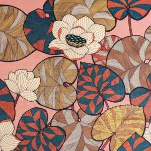 tissu velours imprimés idris rose