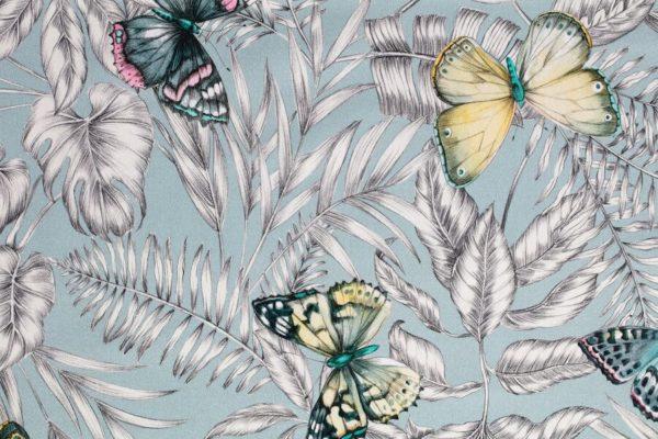 tissu coton ameublement bohemian bleu