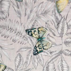 tissu lin imprimé bohemian galet