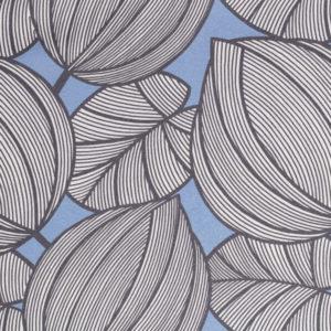 tissu coton ameublement nuit blanche bleu