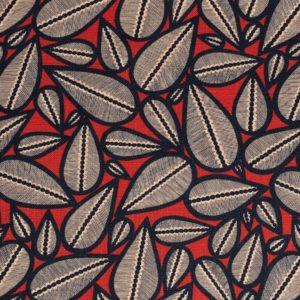 tissu lin imprimé lima rouge