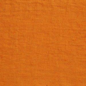 tissu lin lavé orange