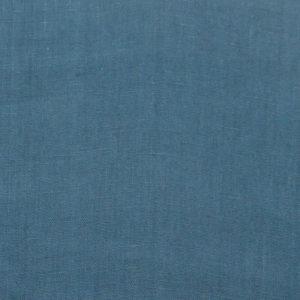 tissu lin lavé bleu paon