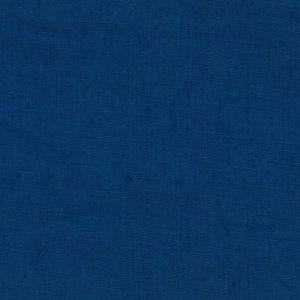 tissu lin lavé bleu pétrole