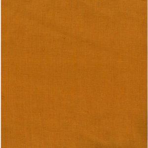 tissu lin lavé orange marmelade