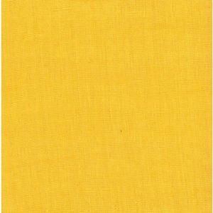 tissu lin lavé jaune ananas
