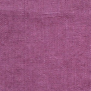 tissu lin lavé aubergine