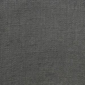 tissu lin lavé anthracite